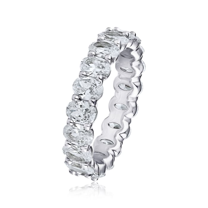 4.08 ct. t.w. Diamond Eternity Wedding Band in Platinum
