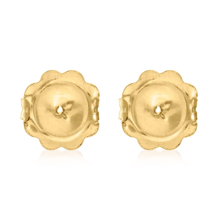 Italian 14kt Yellow Gold X-Large 9mm Earring Backings