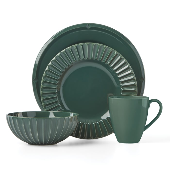 "Kate Spade New York ""Tribeca"" 4-pc. Dark Green Place Setting"