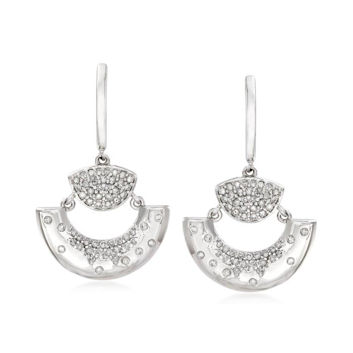 .65 ct. t.w. Diamond Fan Drop Earrings in Sterling Silver