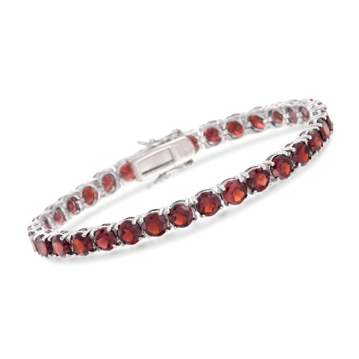 19.20 ct. t.w. Garnet Tennis Bracelet in Sterling Silver