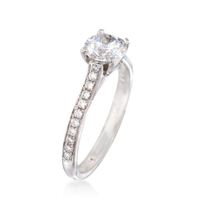 Gabriel Designs .28 ct. t.w. Diamond Engagement Ring Setting in 14kt White Gold