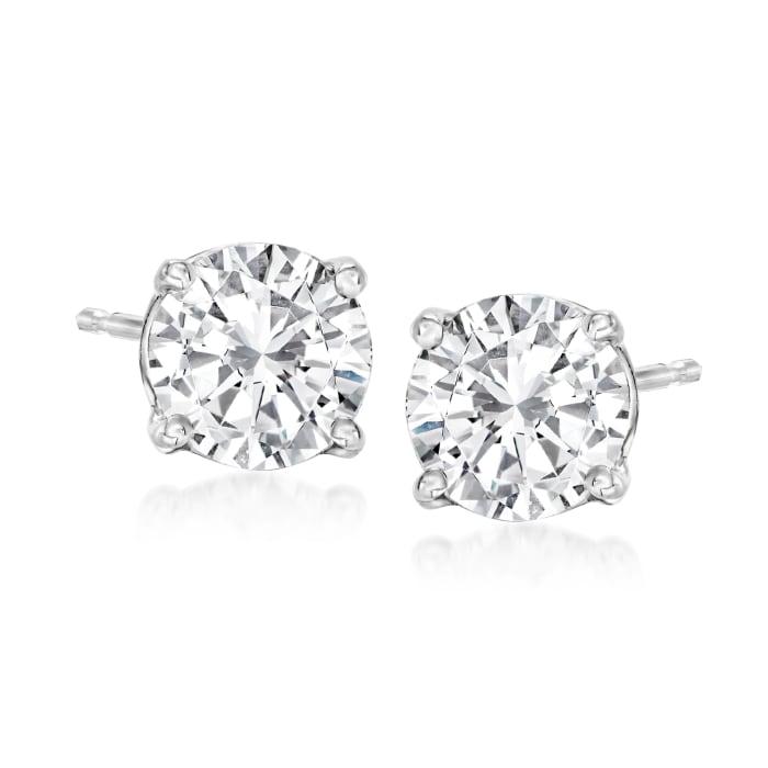 1.75 ct. t.w. Diamond Stud Earrings in 14kt White Gold