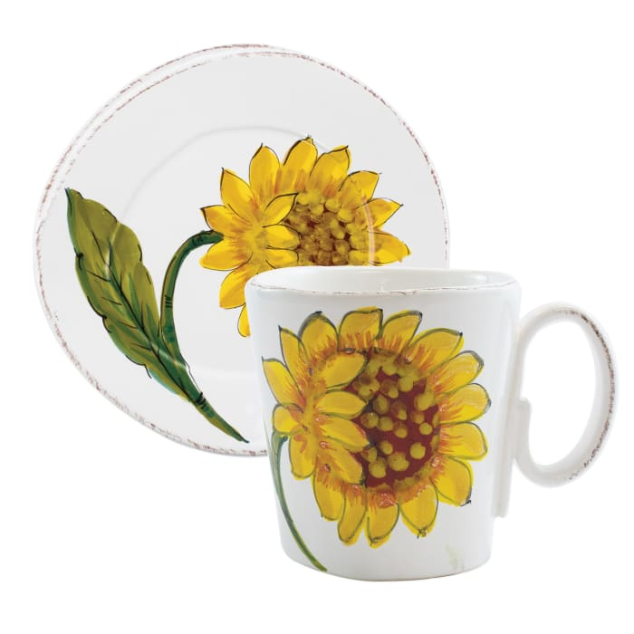 "Vietri ""Lastra"" Sunflower Dinnerware from Italy"