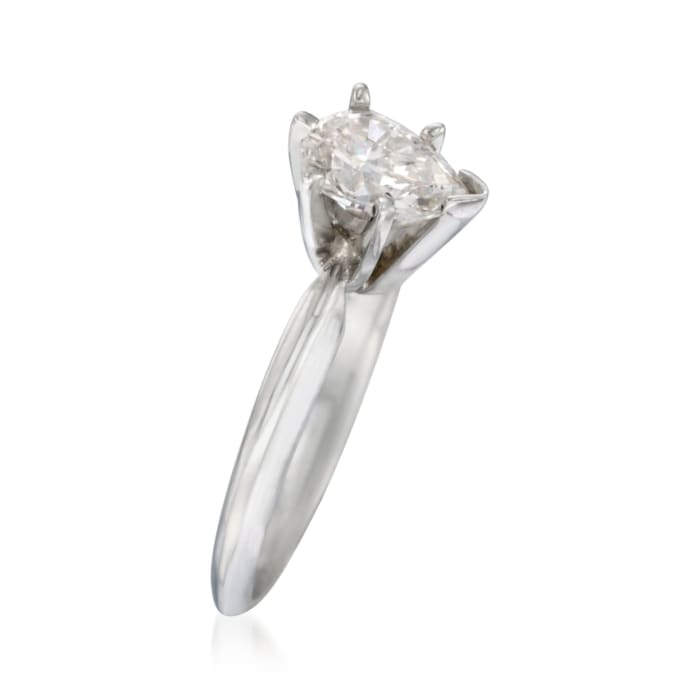 .76 Carat Diamond Solitaire Engagement Ring in 14kt White Gold