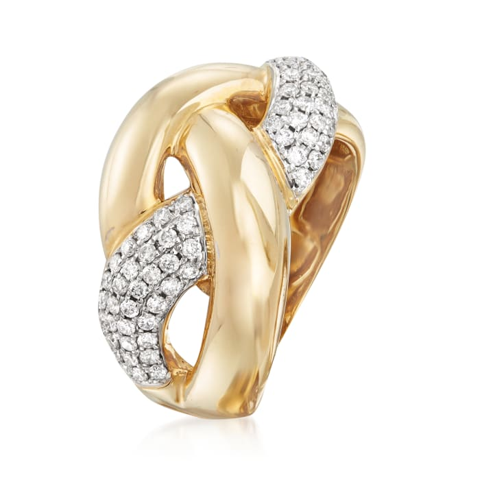 .63 ct. t.w. Diamond Braided Ring in 14kt Yellow Gold