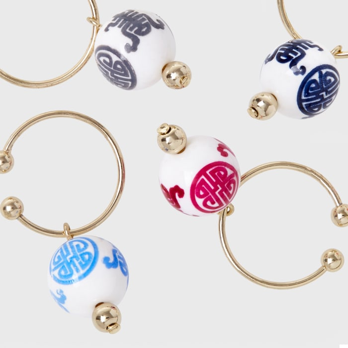 Joanna Buchanan Set of 6 Chinoiserie Wine Charms