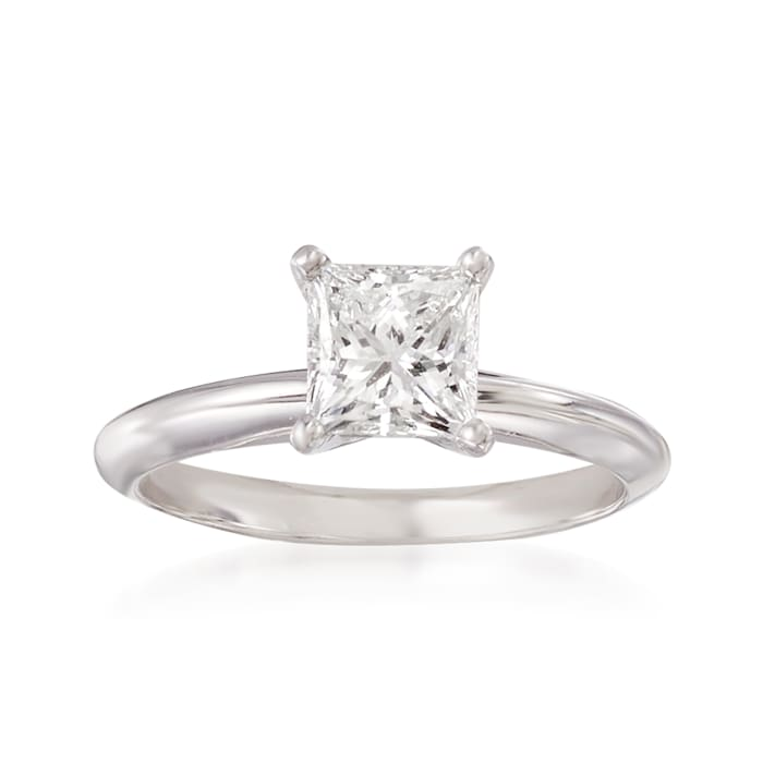 1.25 Carat Certified Diamond Solitaire Ring in 18kt White Gold