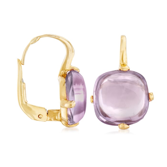 Italian 4.00 ct. t.w. Amethyst Drop Earrings in 14kt Yellow Gold