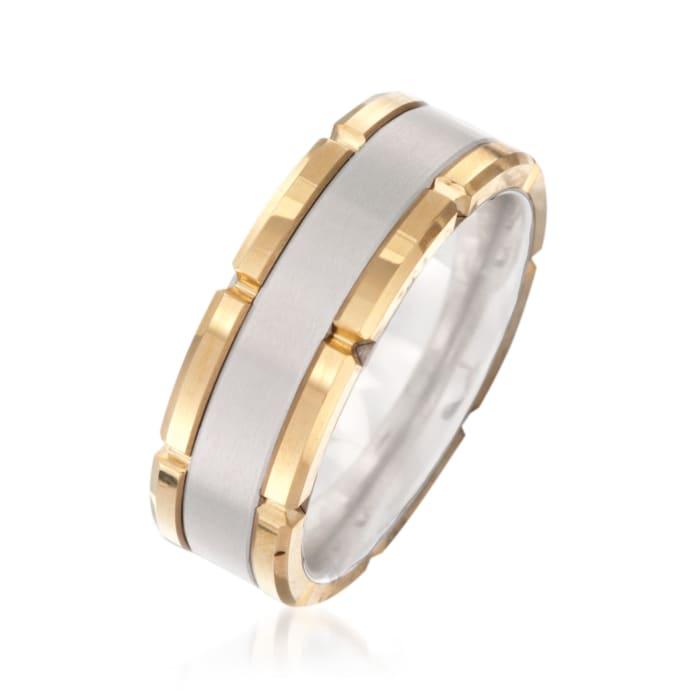 Men's 8mm Tungsten Carbide Brushed Wedding Ring