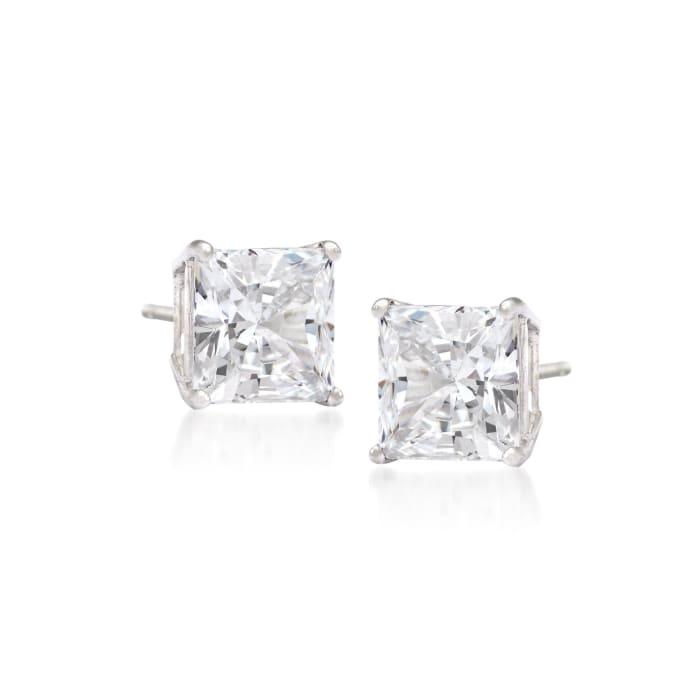 .25 ct. t.w. Princess-Cut Diamond Stud Earrings in 14kt White Gold
