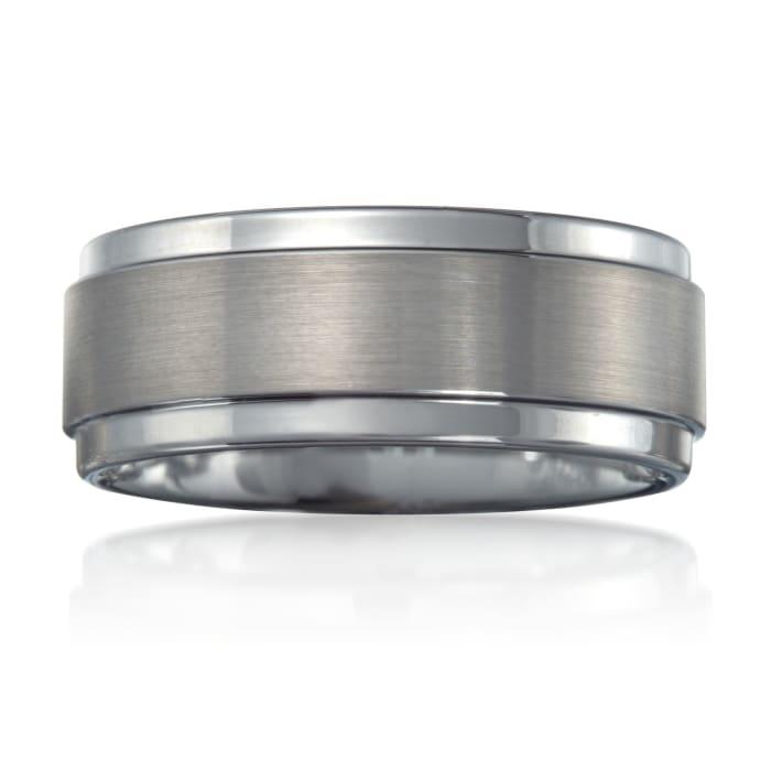 Men's 9mm Tungsten Carbide Wedding Ring