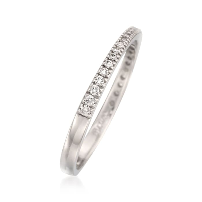 .17 ct. t.w. Diamond Wedding Band in 18kt White Gold