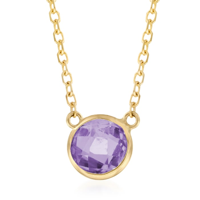 .90 Carat Amethyst Necklace in 14kt Yellow Gold