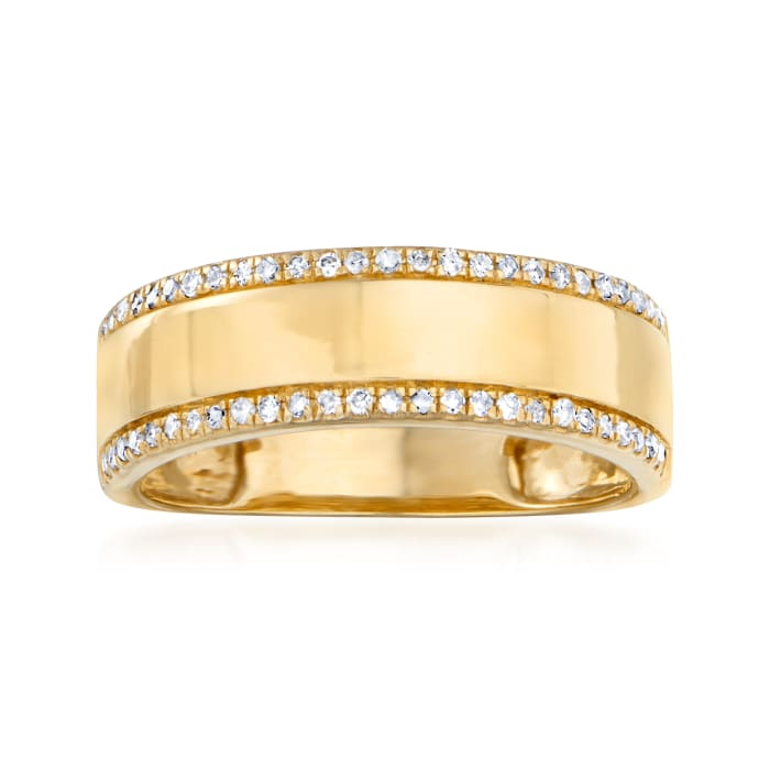 .20 ct. t.w. Diamond Frame Ring in 14kt Yellow Gold