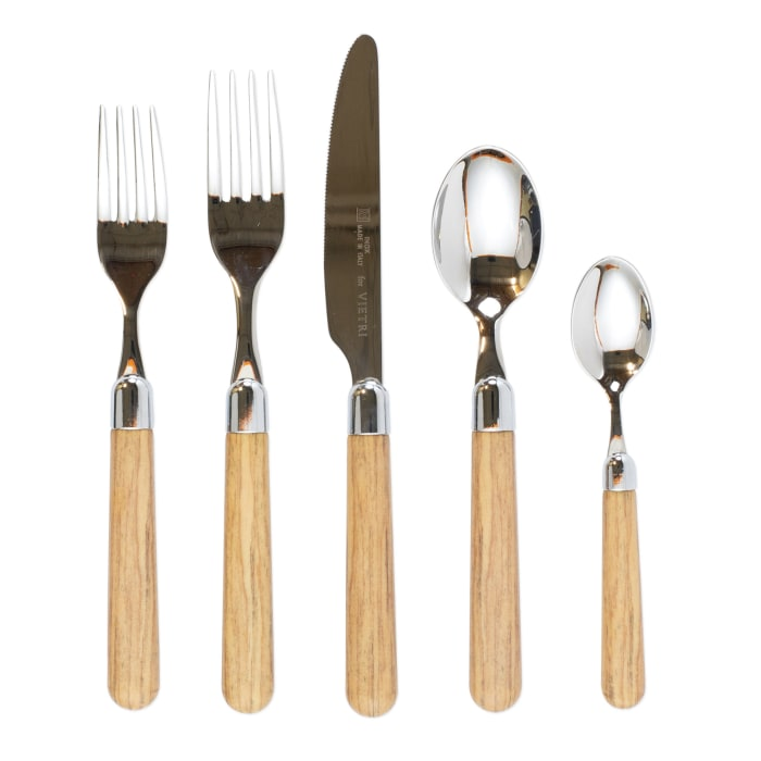 "Vietri ""Albero"" Oak Flatware from Italy"