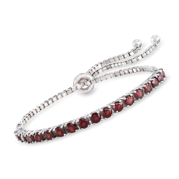 5.00 ct. t.w. Garnet Bolo Bracelet in Sterling Silver
