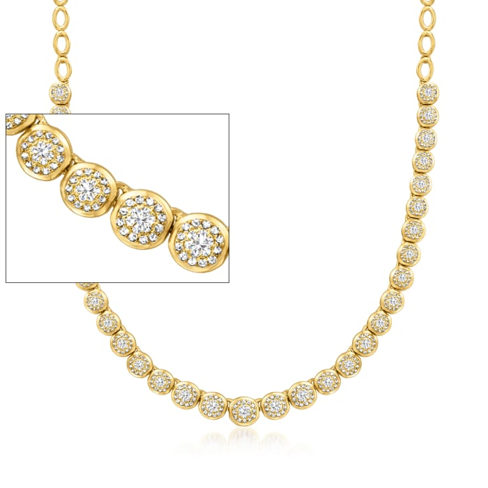 2.00 ct. t.w. Diamond Necklace in 18kt Gold Over Sterling