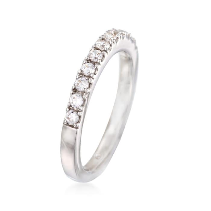 Gabriel Designs .33 ct. t.w. Diamond Wedding Ring in 14kt White Gold