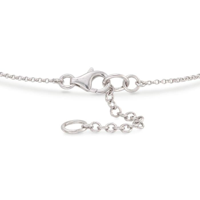 .10 ct. t.w. Diamond Bar Bracelet in Sterling Silver