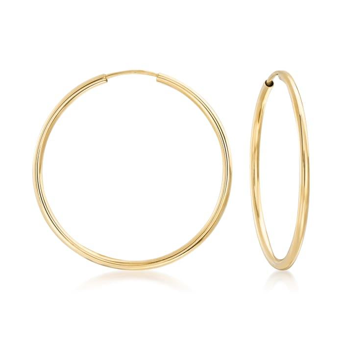 14kt Yellow Gold Endless Hoop Earrings