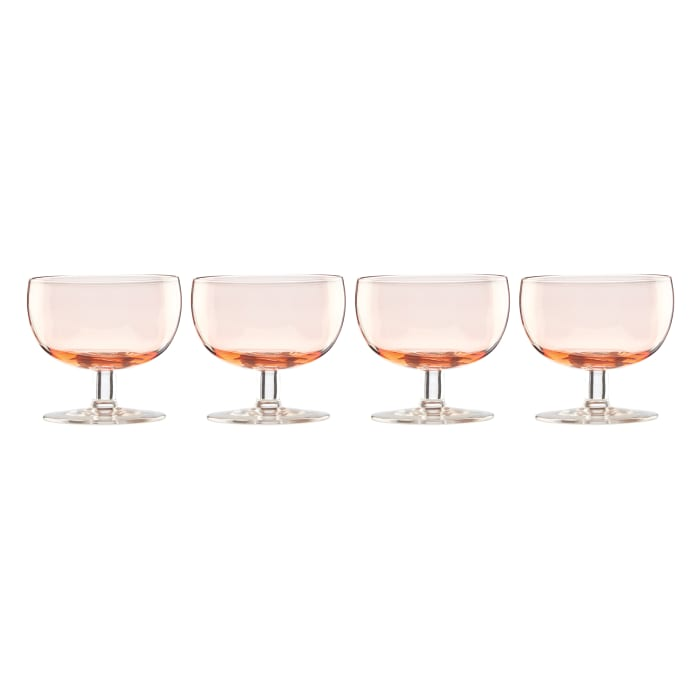 "Lenox ""Valencia"" Set of 4 Peach Cocktail Glasses"
