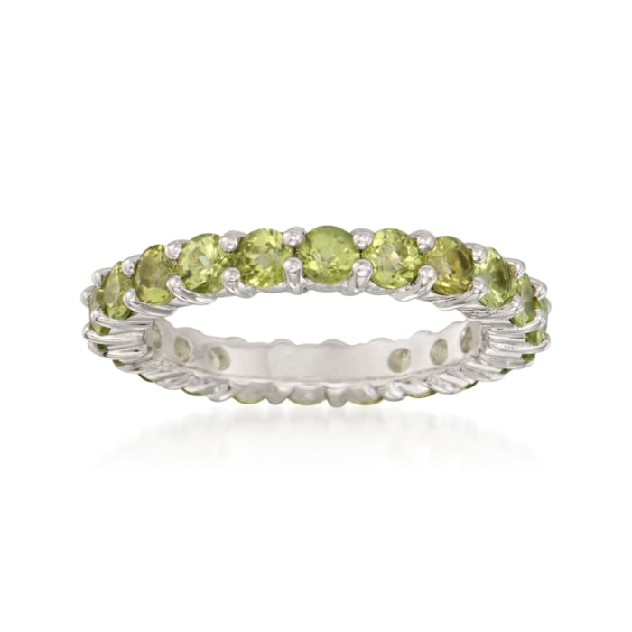 2.40 ct. t.w. Peridot Eternity Band in Sterling Silver