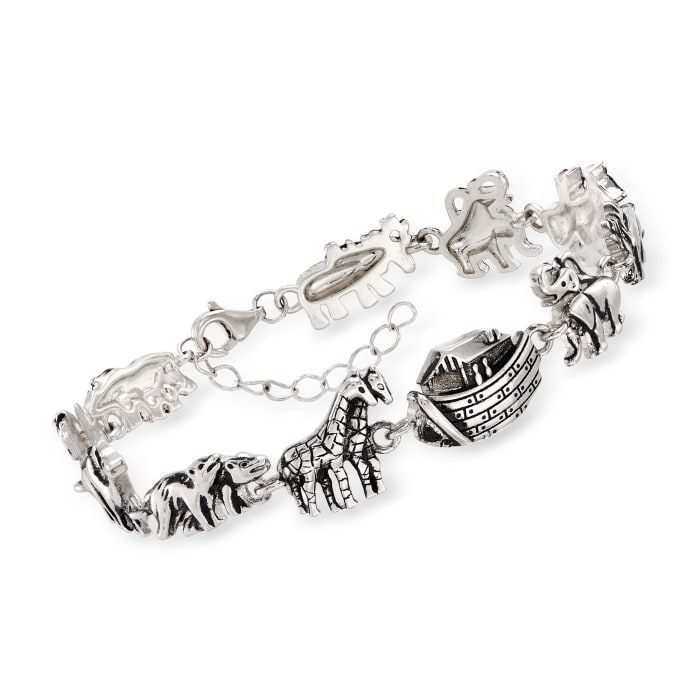 Sterling Silver Noah's Ark Bracelet
