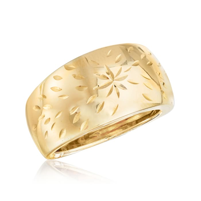 Italian 14kt Yellow Gold Starburst Dome Ring