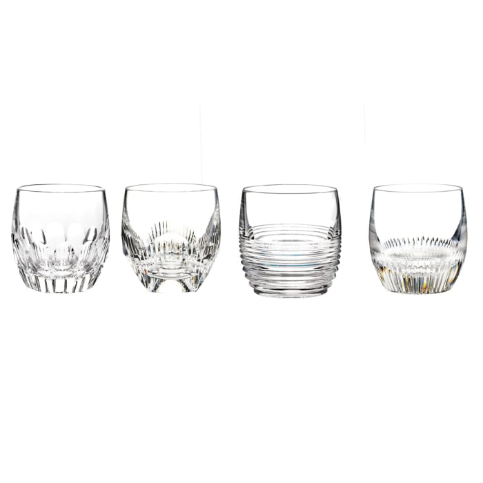 """Waterford Crystal """"Mixology Mixed"""" Set of 4 Tumbler Glasses"""