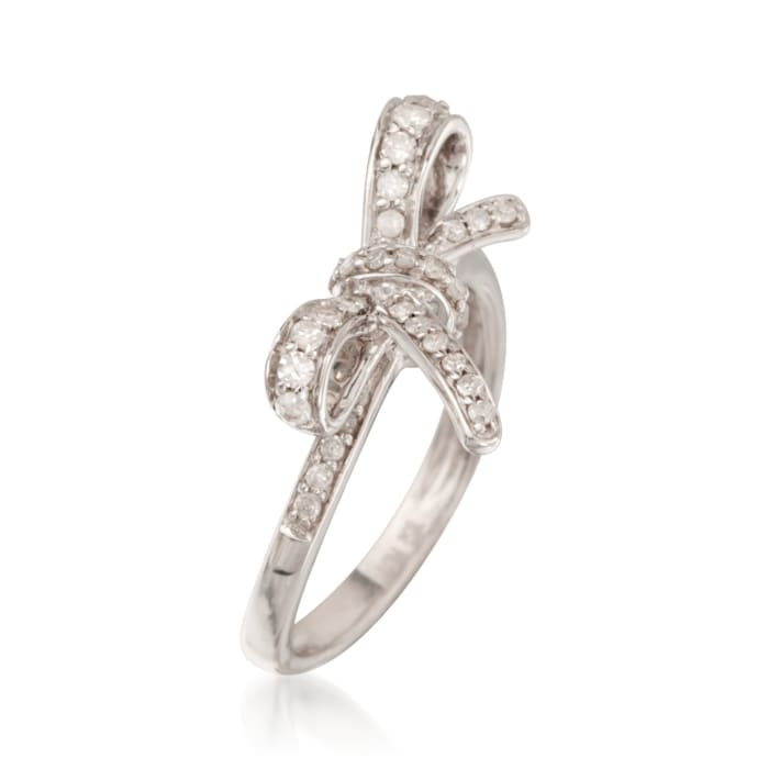 .35 ct. t.w. Diamond Bow Ring in Sterling Silver