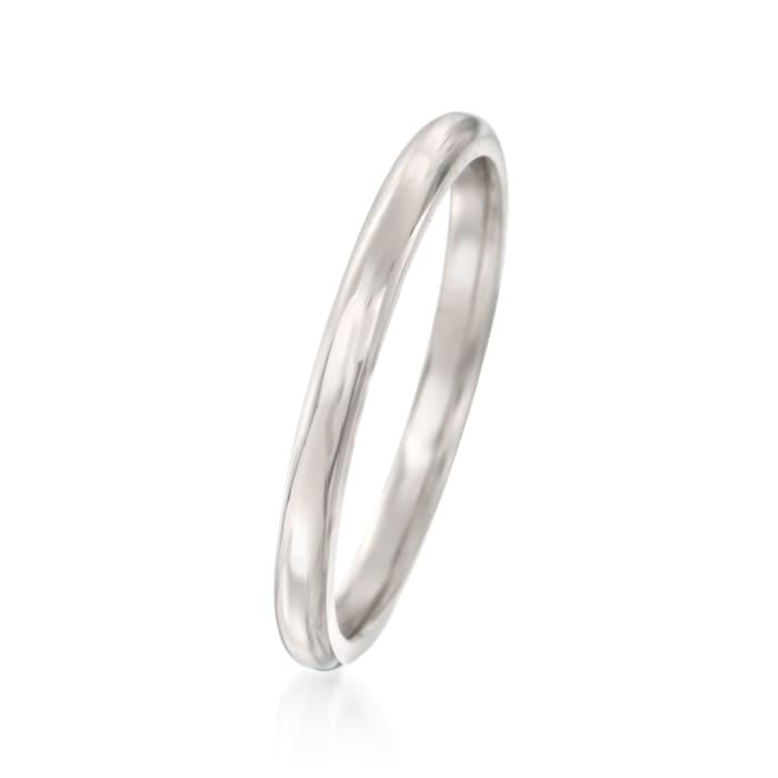 Women's 2mm Platinum Wedding Ring