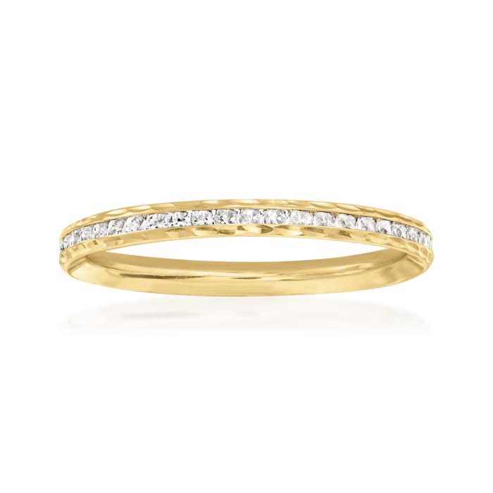 .70 ct. t.w. CZ Ring in 14kt Yellow Gold