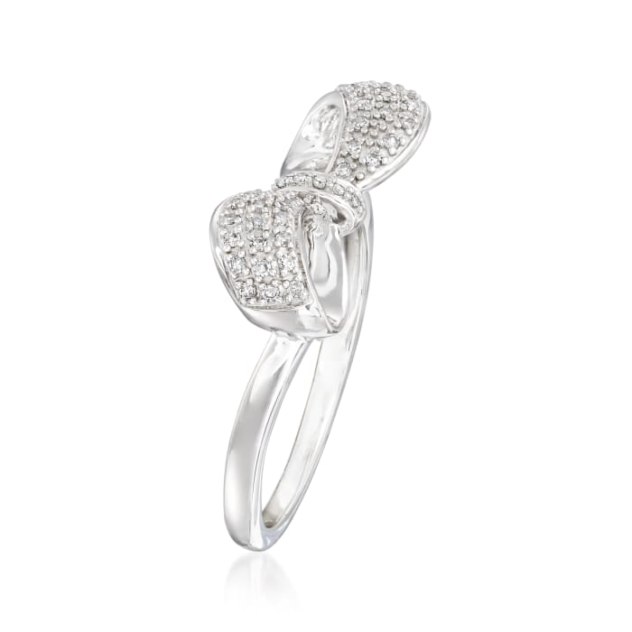 .13 ct. t.w. Diamond Bow Ring in Sterling Silver