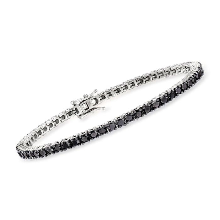 5.00 ct. t.w. Black Diamond Tennis Bracelet in Sterling Silver