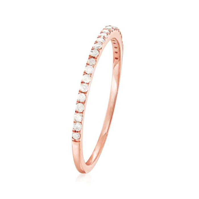 .15 ct. t.w. Diamond Stackable Ring in 14kt Rose Gold
