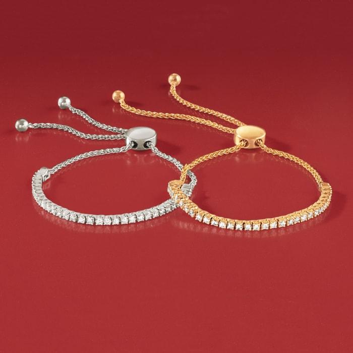 1.00 ct. t.w. Diamond Bolo Bracelet in 14kt Yellow Gold