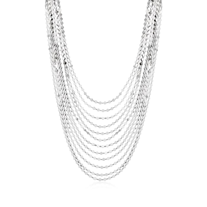 Italian Sterling Silver Multi-Strand Necklace
