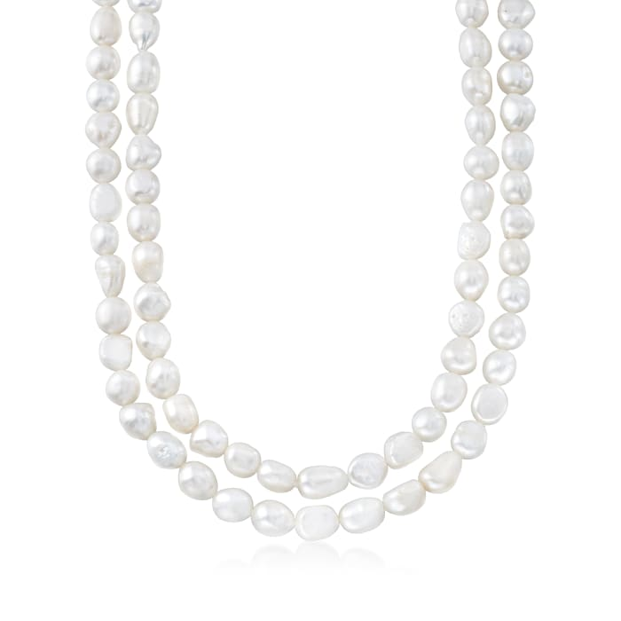 9-10mm Cultured Baroque Pearl Endless Necklace