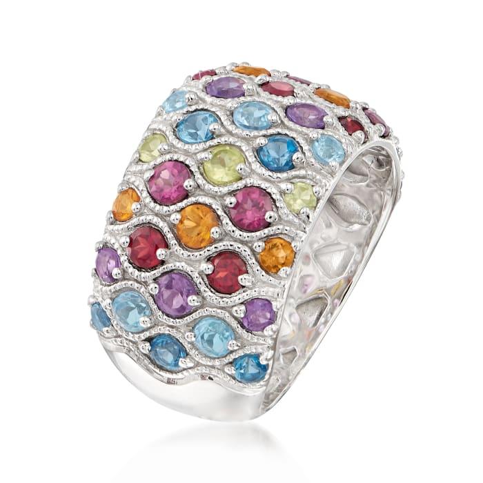 3.00 ct. t.w. Multi-Gemstone Ring in Sterling Silver