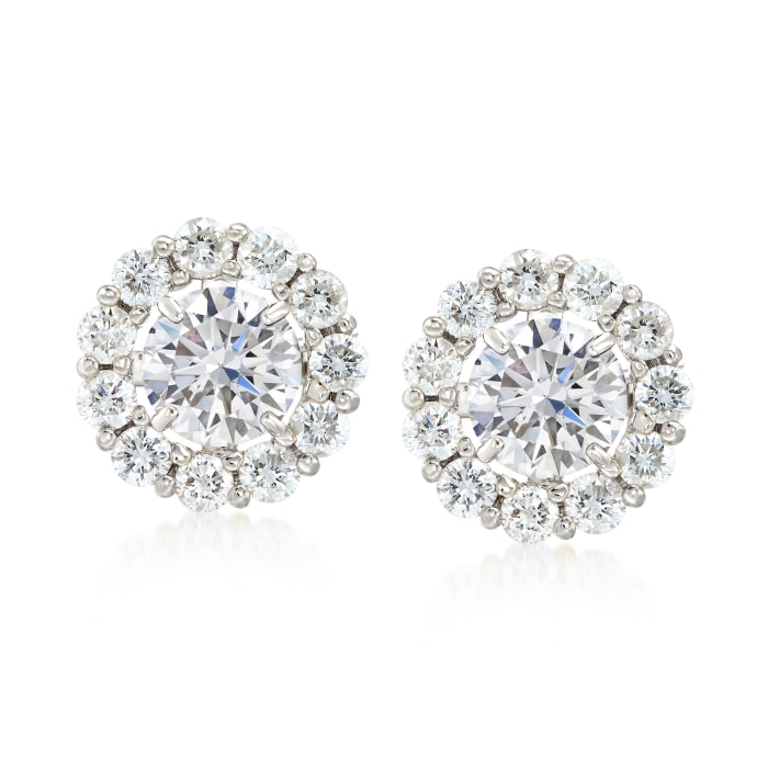 1.50 ct. t.w. Diamond Earring Jackets in 14kt White Gold