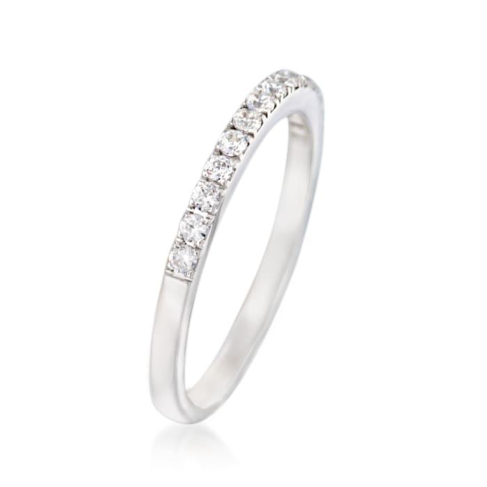 Simon G. .26 ct. t.w. Diamond Wedding Ring in 18kt White Gold