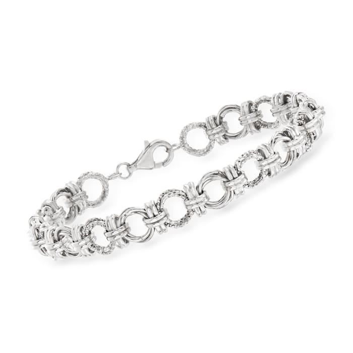 Sterling Silver Circle-Link Bracelet