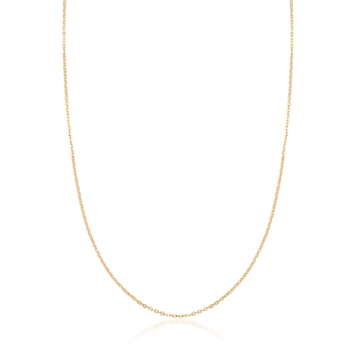 18kt Yellow Gold 1.5mm Cable Link Necklace