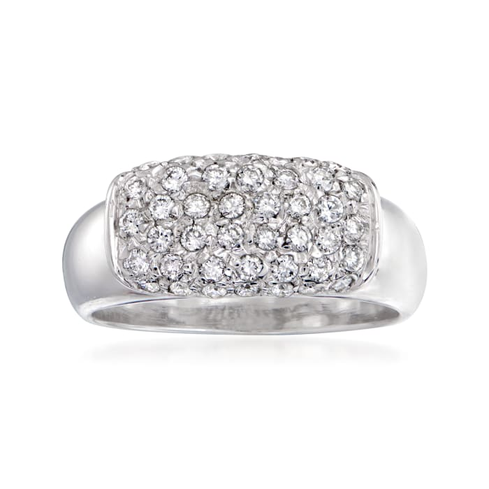 C. 1985 Vintage .50 ct. t.w. Diamond Ring in 18kt White Gold