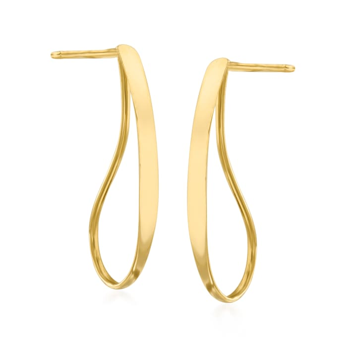 14kt Yellow Gold Open-Teardrop Earrings