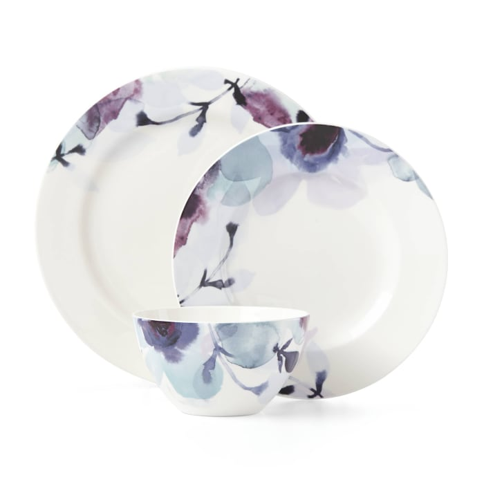 "Lenox ""Indigo Watercolor Floral"" Dinnerware Set"