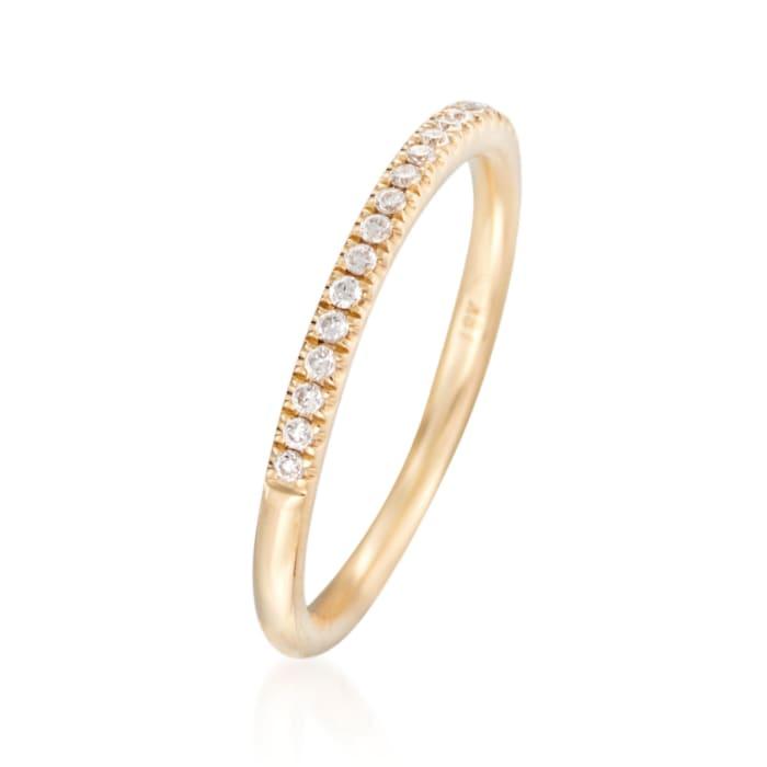 Henri Daussi .15 ct. t.w. Diamond Wedding Ring in 14kt Yellow Gold