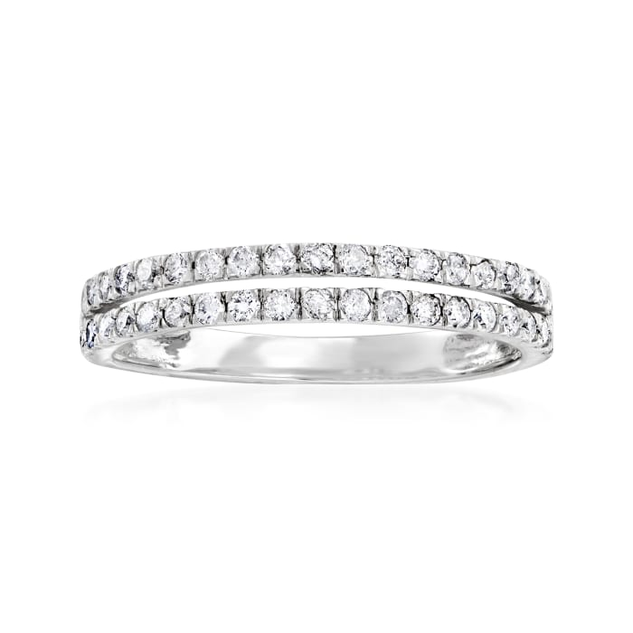 .50 ct. t.w. Diamond Open-Space Double-Row Ring in 14kt White Gold