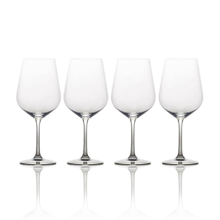 """Mikasa """"Gianna"""" Set of 4 Ombre Smoke White Wine Glass"""